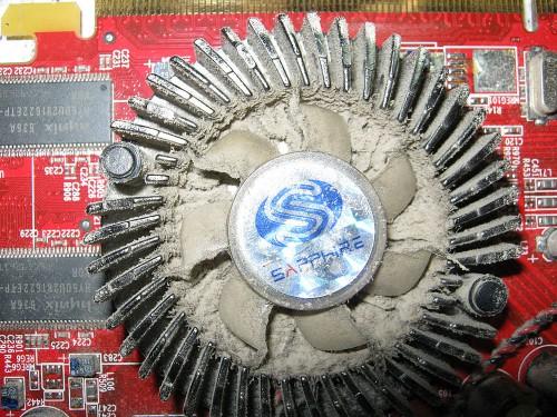 Пыль на видеокарте компьютера