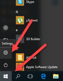 входим в меню параметры windows 10