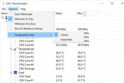 Термометр Windows 7