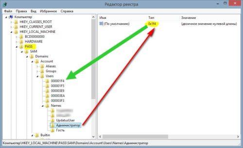 Сброс пароля Windows 7 через реестр
